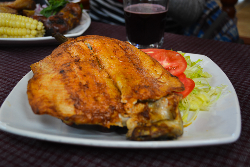 Picantería's Popular Fried Trout and Salad