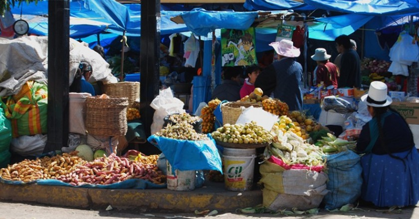 Native Tubers and More in a Cuzco Market