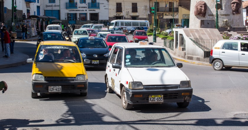 Traffic Congestion in Central Cuzco