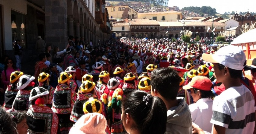 Merchants Parading Today In Cuzco (Photo: David Knowlton)