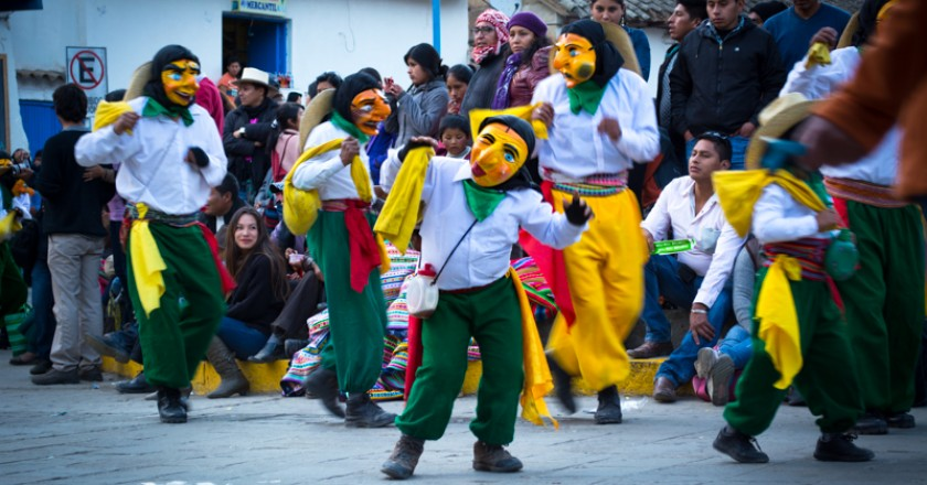 Chukchu Dancers Performing in the Plaza (Walter Coraza Morveli)