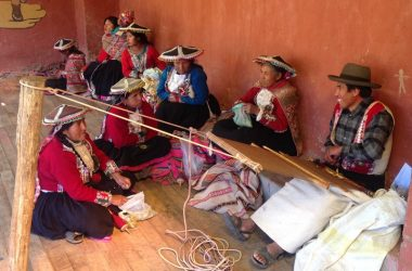 Members of Pitumarkas Weaving Cooperative (Eric J. Rayner)