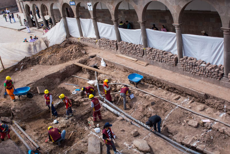 Archeological Work just off Cuzco's Main Square (Walter Coraza Morveli)