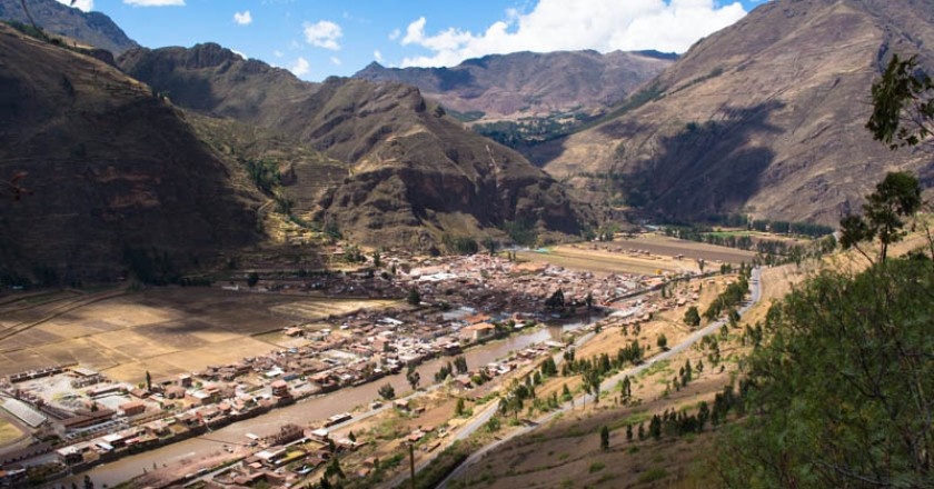 The Pisac Valley Seen From Pisac Road