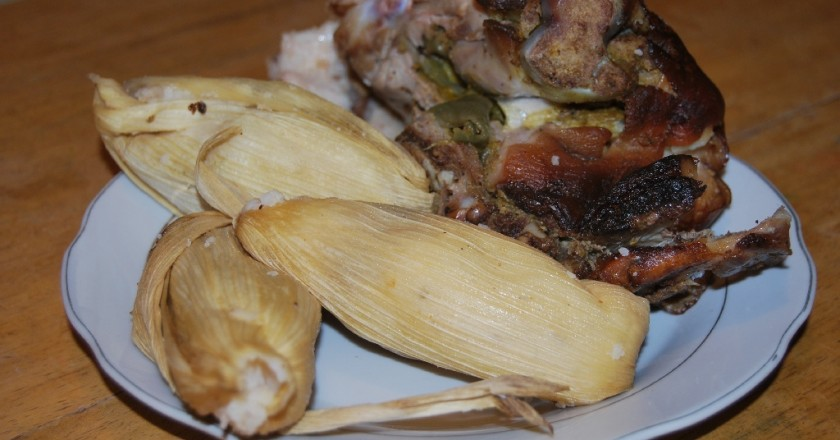 Traditional Dish for New Year - Lechon with Tamales (Walter Coraza Morveli)