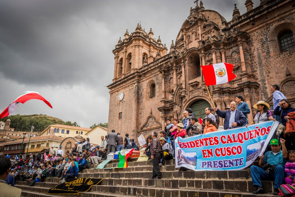 Living and Dead Protestors in Cuzco (Walter Coraza Morveli)