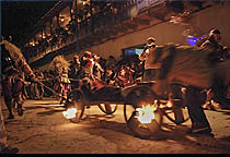 Flaming Cart Pull by Demons from Paucartambo