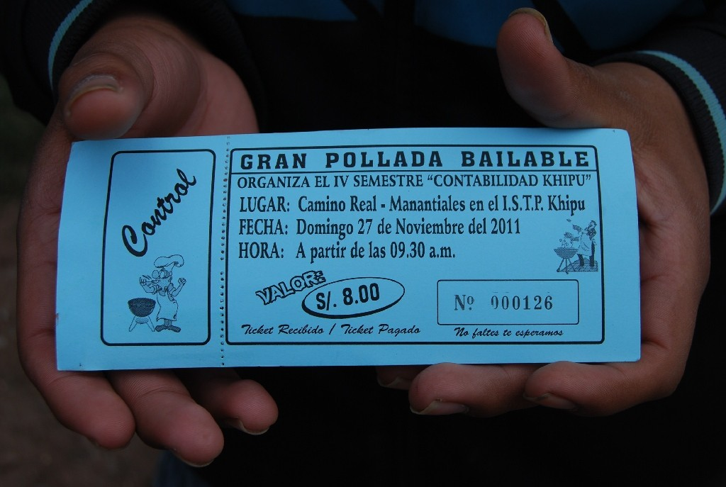Ticket for a Pollada