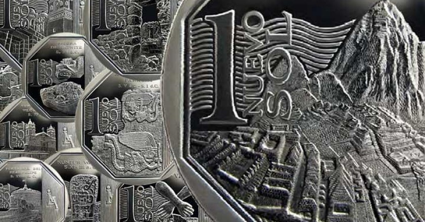A New 1 Sol Coin Showing Machupichu