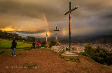 """Rain or shine, we love Cusco in the Season"", a view from Sascayhuaman"