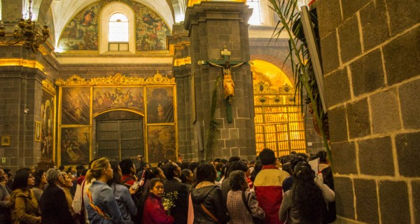 Easter Sunday Mass in Cuzco.