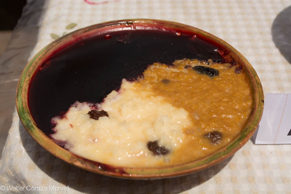 Rice Pudding with Purple Pudding and Zambito Rice