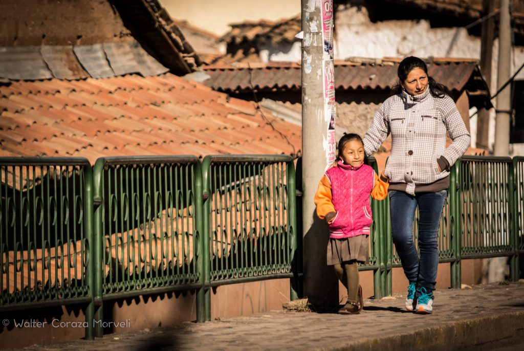 Walking a Girl to School in Cuzco (Walter Coraza Morveli)