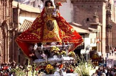 The Virgen of Almudena in Procession