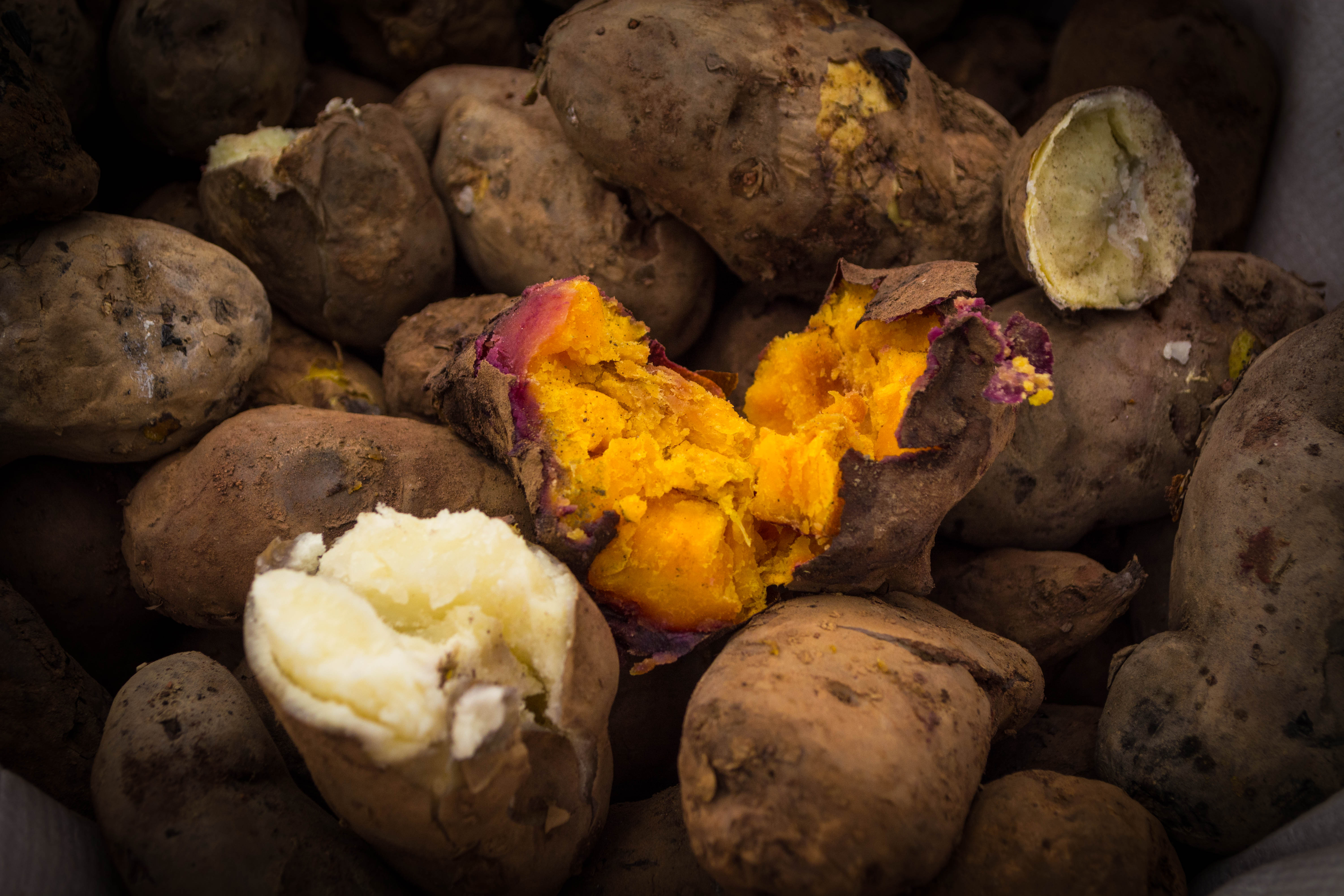 A Huatia Dish, Prepared into the Earth, Baked Potatoes and Sweet Potato (Walter Coraza Morveli)