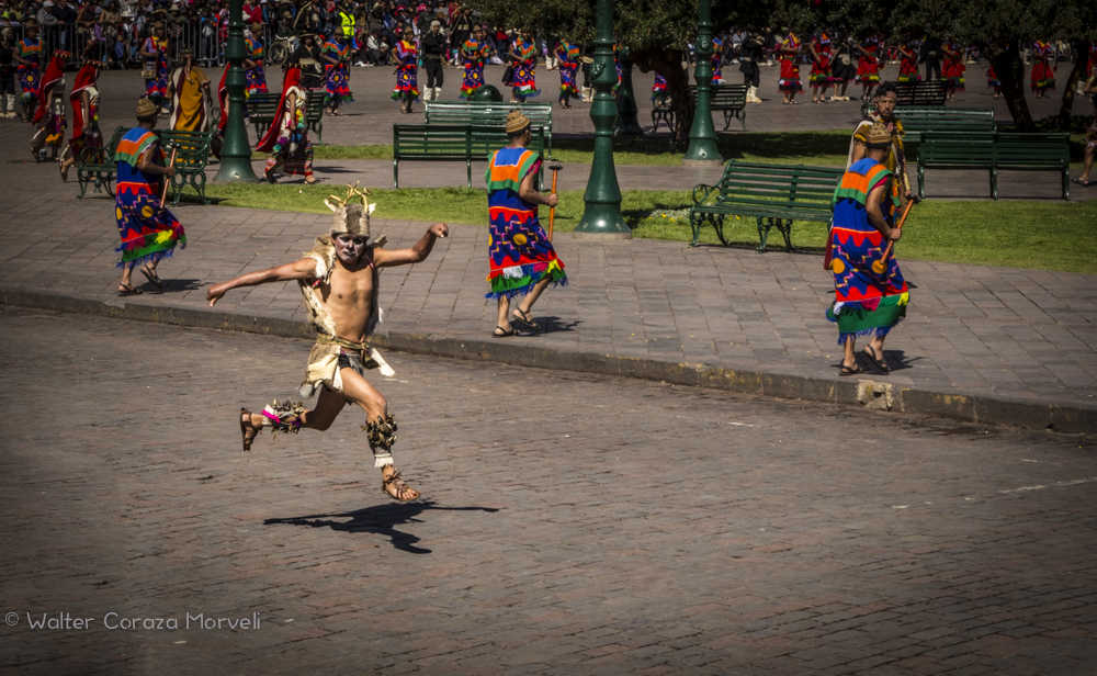 The Jump of Deer Man At Inti Raymi (Walter Coraza Morveli)