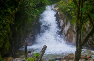 A Waterfall in the in the Jungle, Cusco