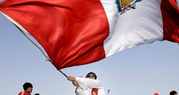 Peruvian Flag Flaming