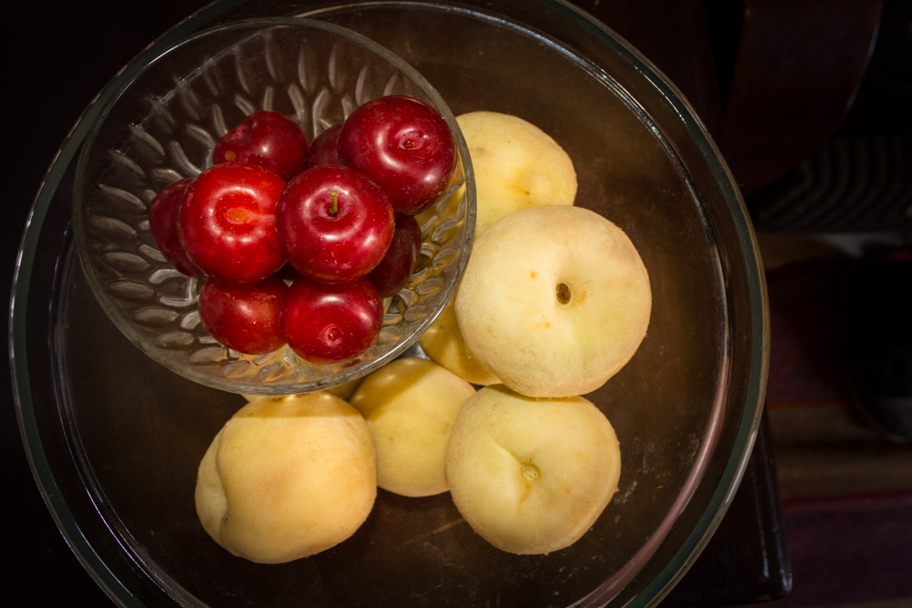 Peaches and Plums Make the Season