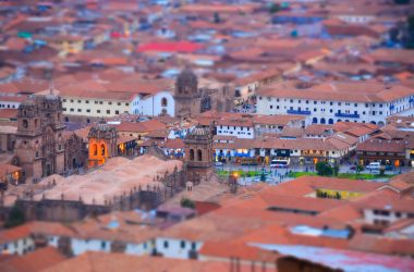 Colonial core of Cusco from Sacsayhuaman