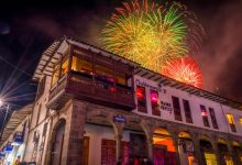 Christmas Firework in the Plaza de Armas, Cusco (Walter Coraza Morveli)