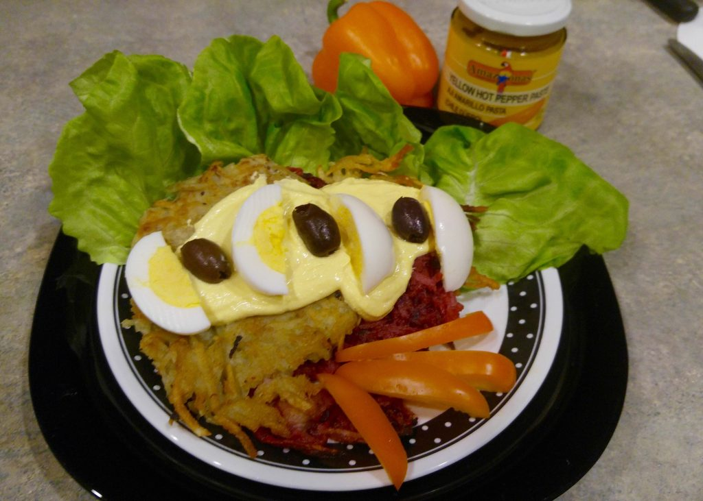 Latkes and Huancaína Sauce