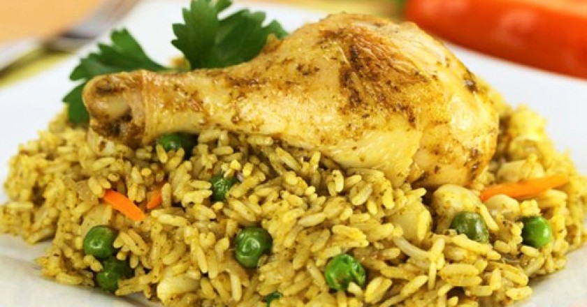 Green rice with Chiken