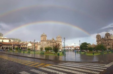 Magical Rainbows Above Cusco's Main Plaza (Photo: Walter Coraza Morveli)