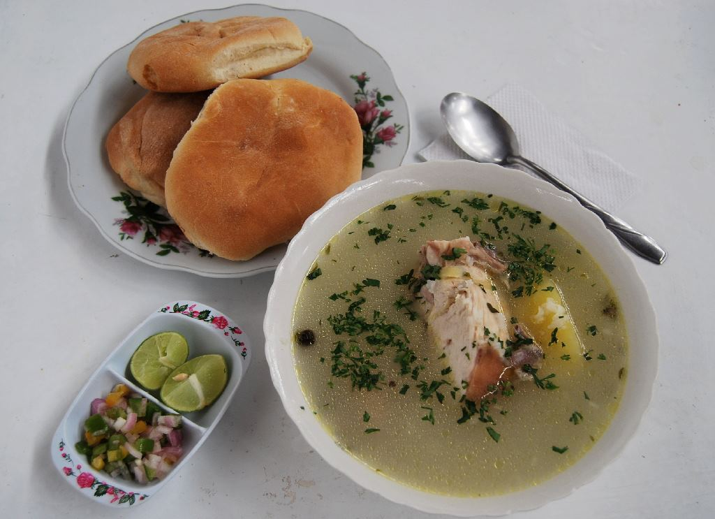 A Traditional Caldo de Gallina - Chicken Soup (Walter Coraza Morveli)