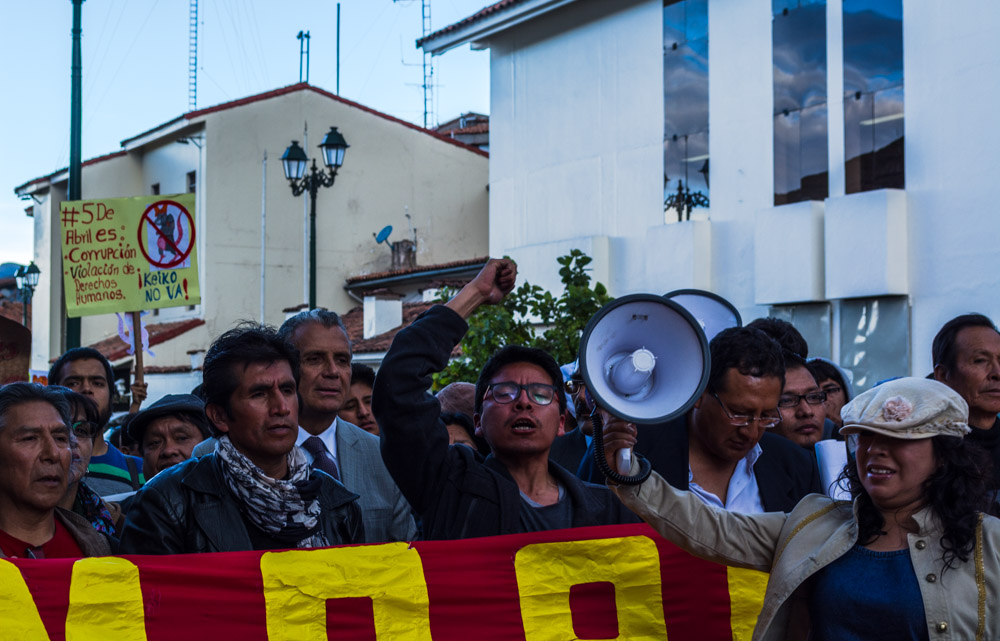 March against Keiko in Cusco (Hebert Huamani)