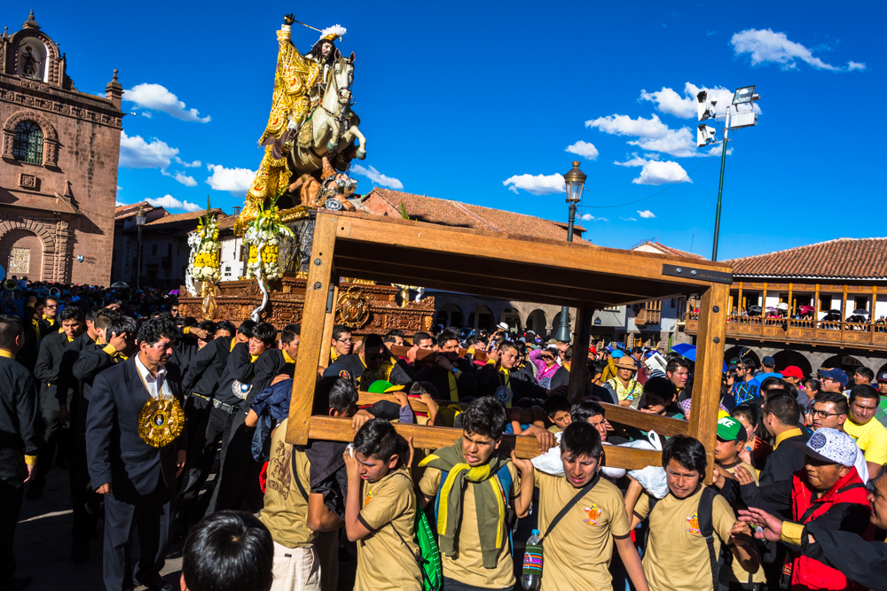 Boys Carrying the Stand for the Saint at Rest (Hebert Huamani)