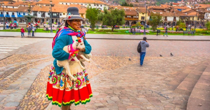 Cholito Who Posed for Pictures in Cusco (Hebert Huamani Jara )