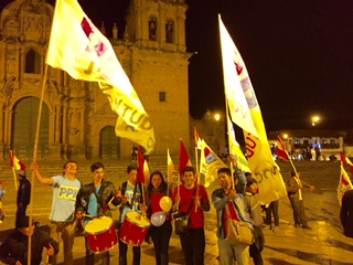 Seguidores de PPK en Cusco (David Knowlton)