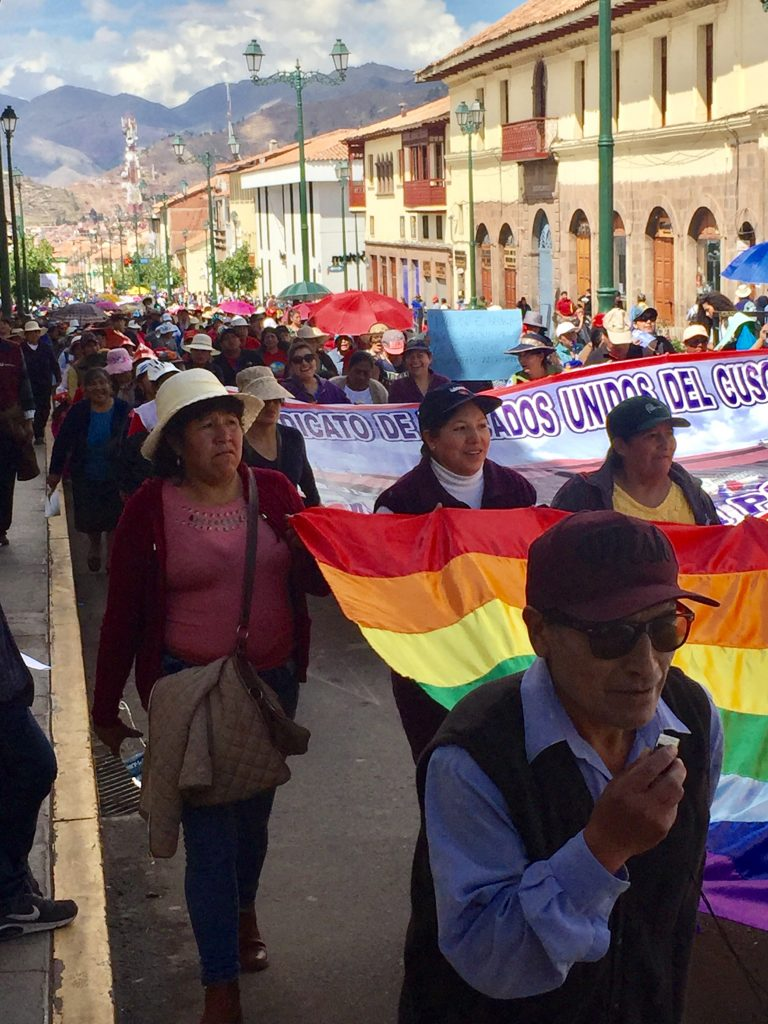 March today in Cusco (David Knowlton)