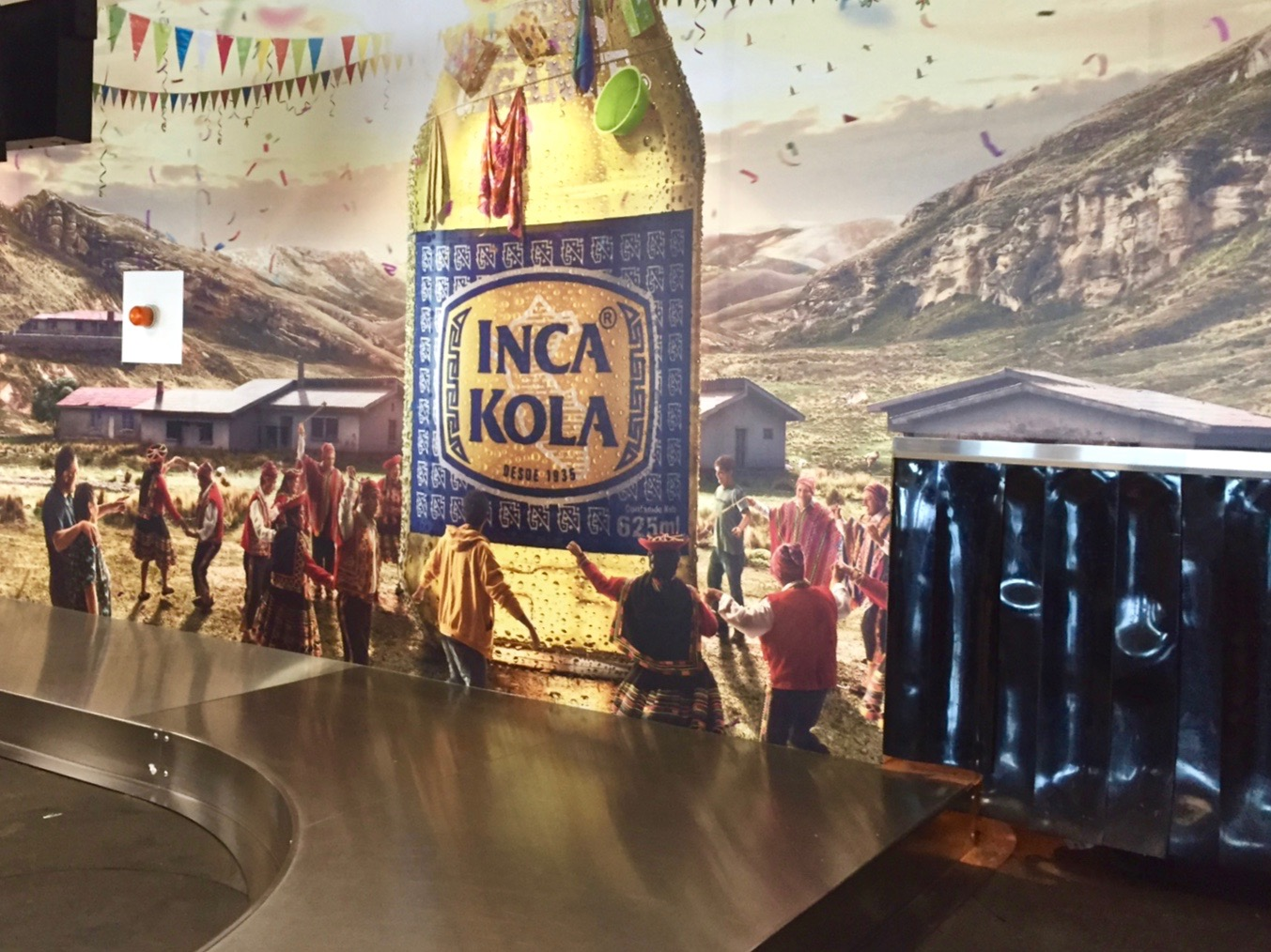 Inca Cola as Yunza in the Lima Airport (David Knowlton)