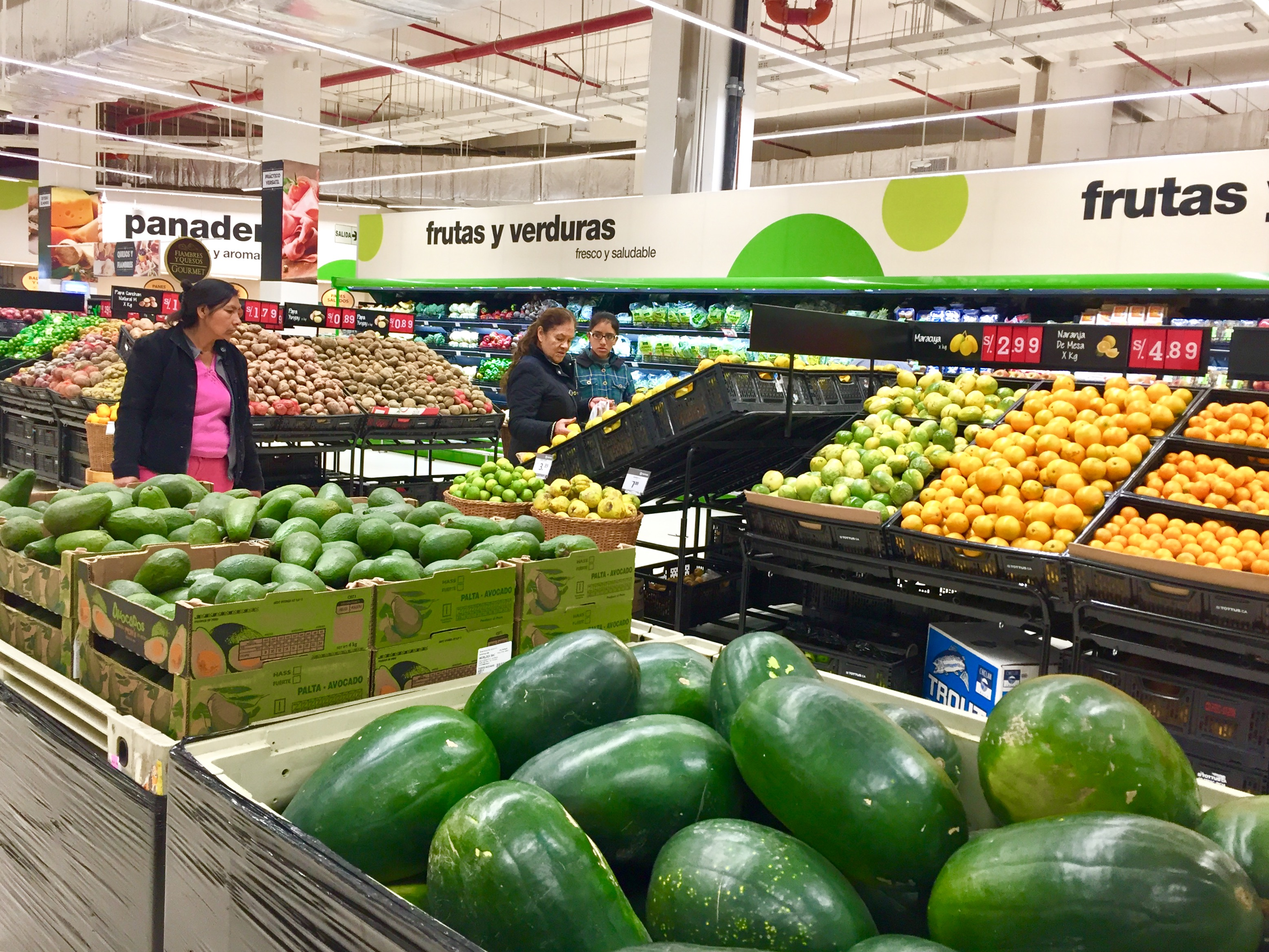 Fruit and vegetables section