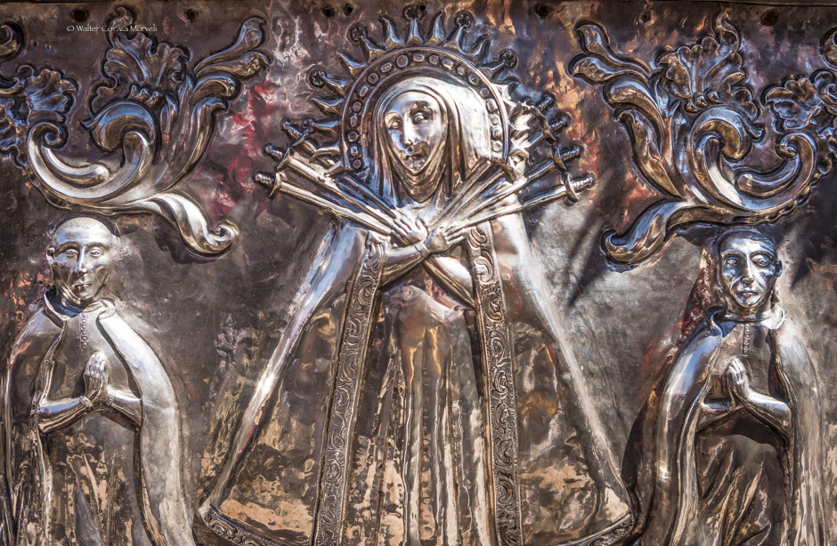 Detail of the Silver Car for the Monstrance of the Holy Host (Walter Coraza Morveli)