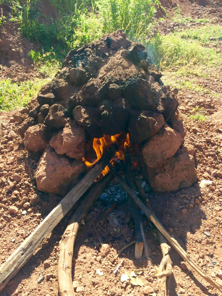 An Oven of Clods to Celebrate Inti Raymi