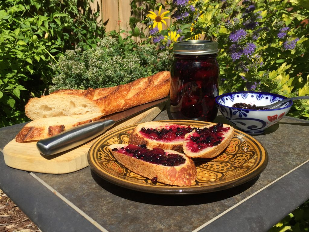 Plum Elderberry Jam in the Garden (David Knowlton)