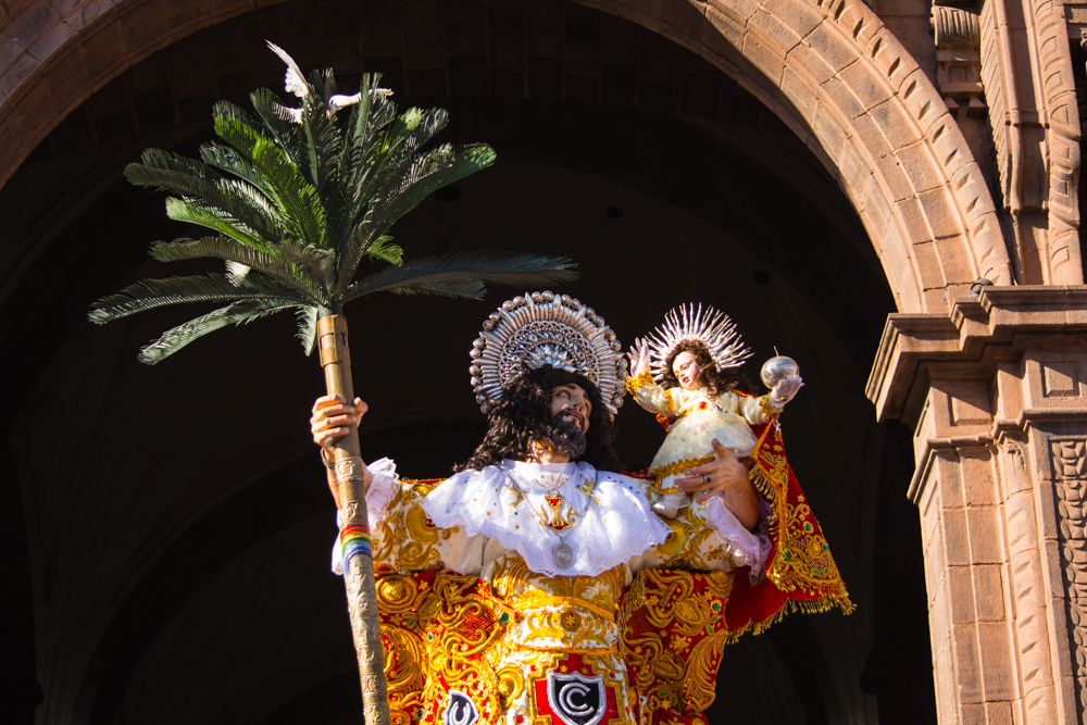 San Cristobal Saint Going out from the Catedral during Corpus Christi (Walter Coraza Morveli)