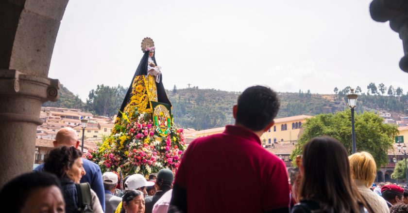 St. Rose of Lima Procession in the Plaza de Armas of Cusco (Walter Coraza Morveli)