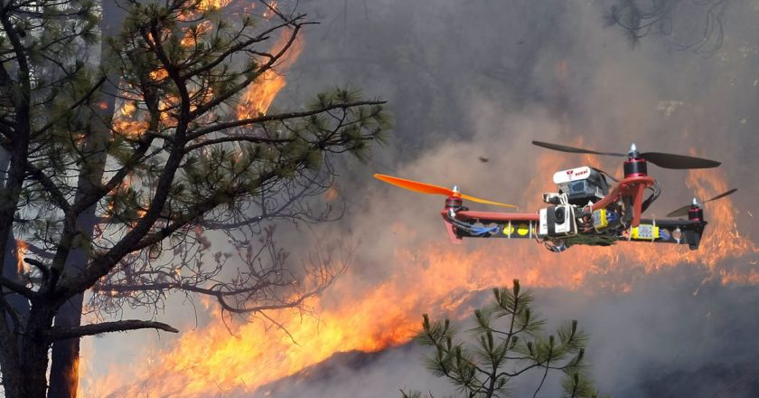 Controlling fire with drones
