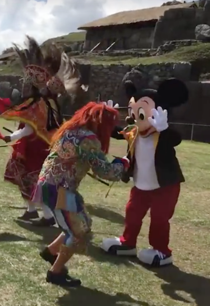 Mickey Mouse in Cusco